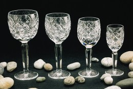 Crystal wine glasses come in all sizes and styles.