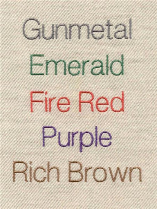 A sampler can show you exactly what that color will look like in your finished project.