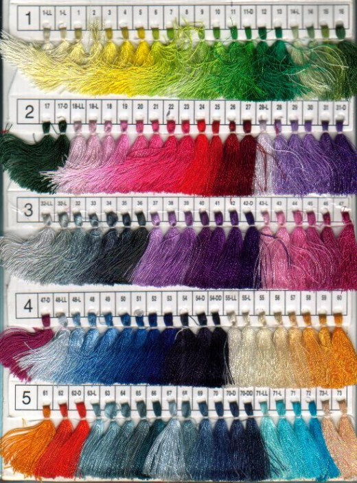 Samples for embroidery thread can be very helpful in choosing the right color!