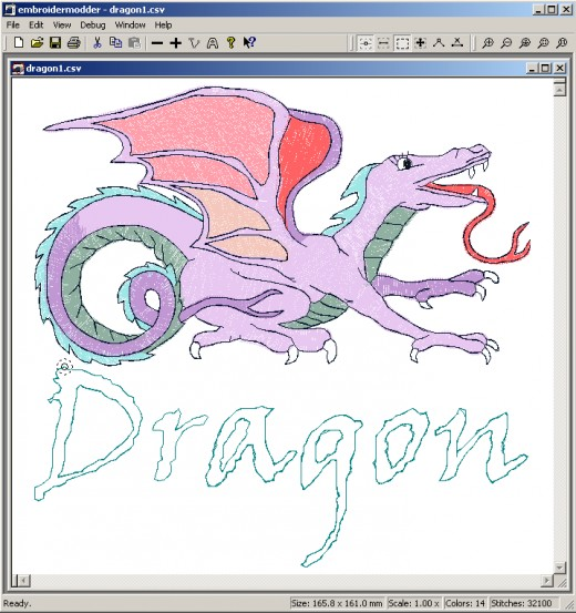 On your computer, embroidery software is as easy to use as any other drawing program.