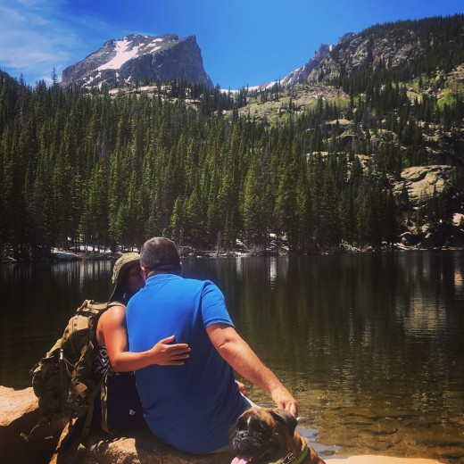 """Take a chance in LOVE"".  On our five years of marriage taken at Rocky Mountain, National Park."