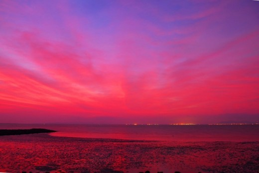 Sunrise scene on Thanh An island
