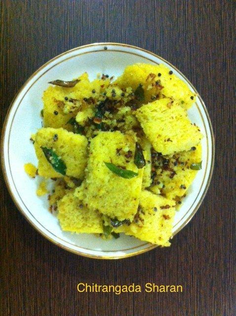 Besan (gram flour) Dhokla