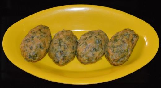 Steamed Coriander Chickpea Flour Balls (Kothimbir Vadi)
