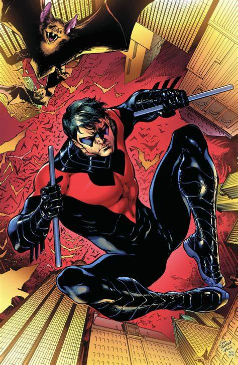 Nightwing: Volume 1: Traps and Trapezes cover without logos.