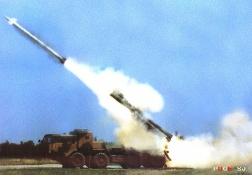 M-302 long range rocket system of the kind allegedly being used by Hamas.