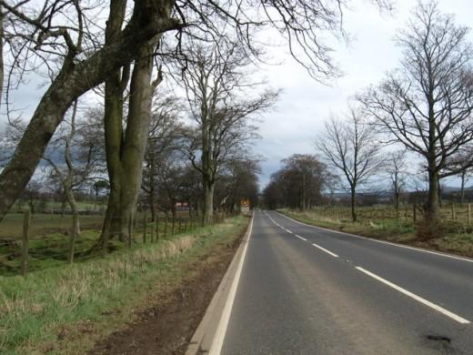 The A70, West Lothian