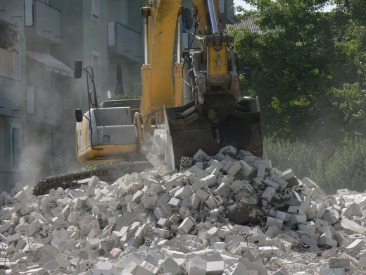 Plenty of opportunities exist on construction sites for materials to be sorted and re-used.
