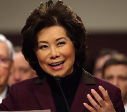 Elaine Chao, Secretary of Transportation and wife of Mitch McConnell