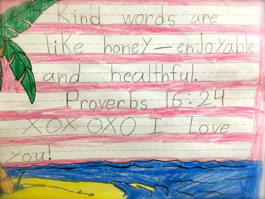 Proverbs 16, from my first granddaughter.