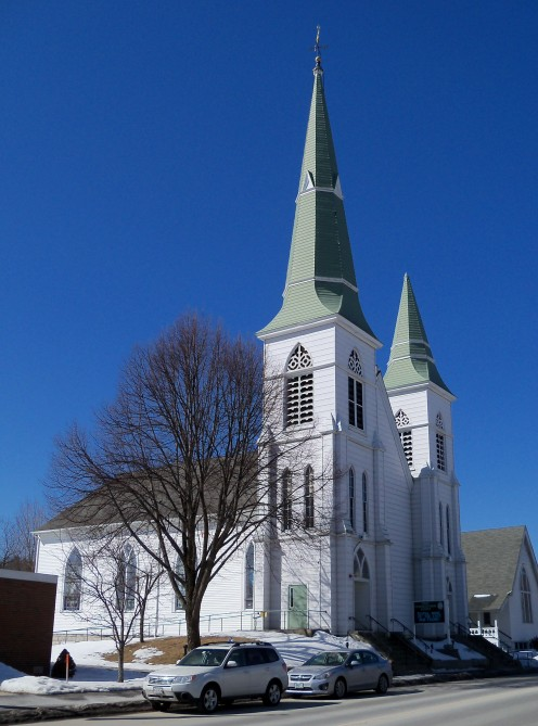 First Congregational Church in Littleton, New Hampshire, USA.
