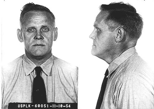 "1954 Prison Photo of Gus Hall taken at start of his imprisonment in the Federal Prison in Leavenworth, Kansas for ""Conspiring & Teaching the Overthrow of the U.S. Government by Force or Violence."""