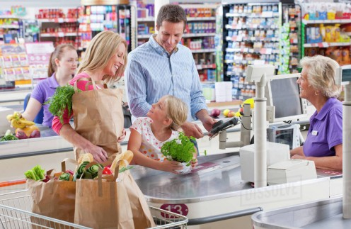 """Looks can be deceiving. Some cashiers """"look"""" as if they work, but only waste time by talking on company time."""