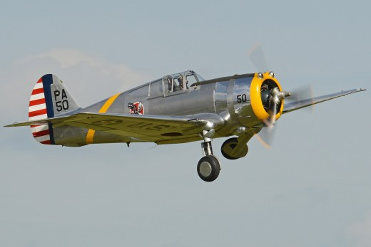 A P-36 at a Flying Legends Airshow 2016.