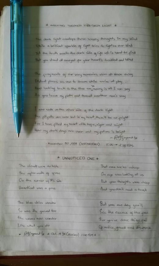 Time Capsule in Poems circa 1994