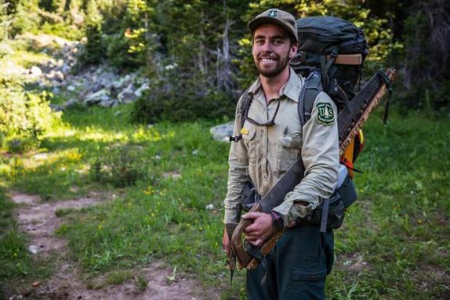 A Forestry Ranger is always to give a camper or hiker a warm smile as he helps them with their forestry experience.