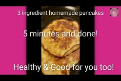 Homemade Three Ingredient Healthy Pancakes