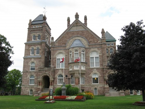 Oxford County Court House in Woodstock, Ontario. Built around 1892.