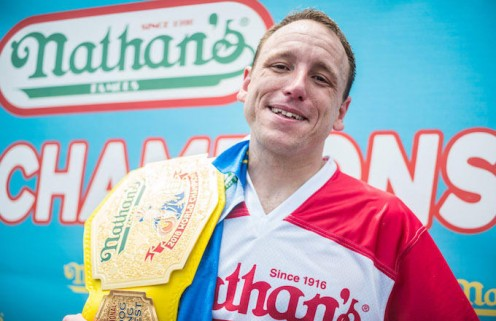 Joey Chestnut, 11-time champion of Nathan's Hot Dog Eating Contest.