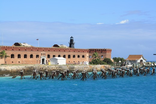 One side of Fort Jefferson.
