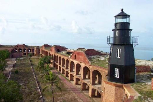 Garden Key Harbor Light for Fort Jefferson.