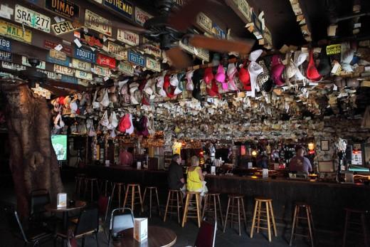 Inside the Captain Tony's Saloon.