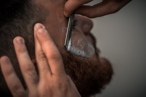 A shave by a straight razor is still considered a treat.
