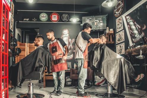 Ladies and gentlemen, the barber shop.