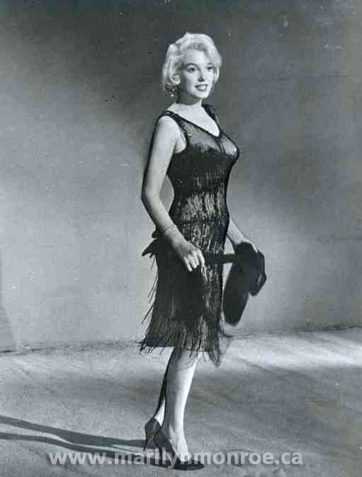 Marilyn in costume test.