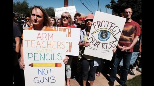 A protest against gun violence on the 19th anniversary of the Columbine massacre, in which 12 students and a teacher were gunned down in a Colorado school in 1999.