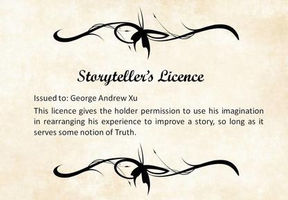 Storyteller's Licence front