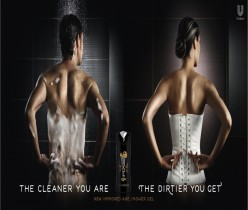 The Cleaner You Are the Dirtier You Get Axe Shower Gel Ad