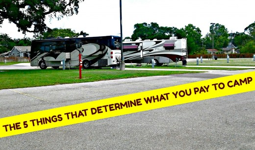 Understanding the things the things that determine camping fees helps people to do a better job of vacation planning.