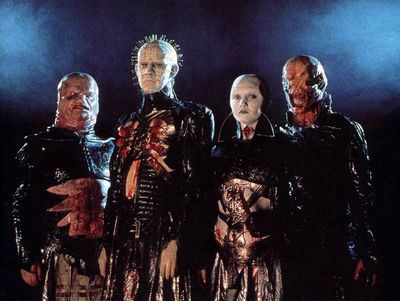 Pinhead & his Gash, The Female, The Chatterer, & Butterball.