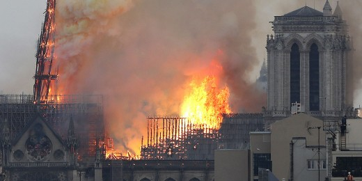 Then the fire engulfed the structure.