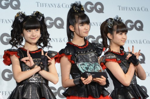 From left to right: Yui Mizuno, Suzuka Nakamoto & Moa Kikuchi. The girls were in attendance at the GQ Men of the Year event in Tokyo in 2015.