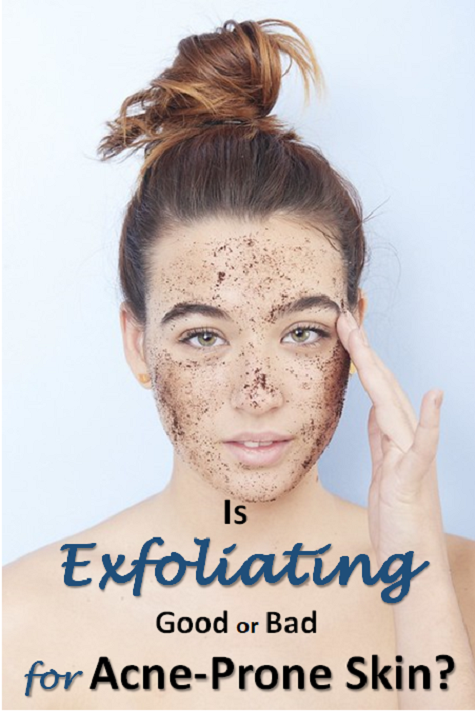 Exfoliating your face on a regular basis truly helps with acne symptoms.
