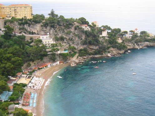 Mala Beach at Cap-d'Aïl on the French Riviera