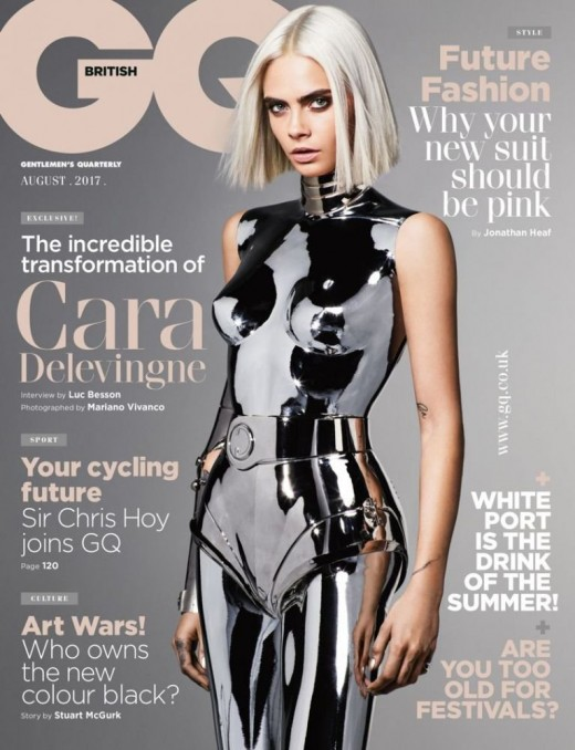 Cara does magazines like GQ!