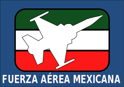 FAM logo based on the corporate image of the Mexican Air Force