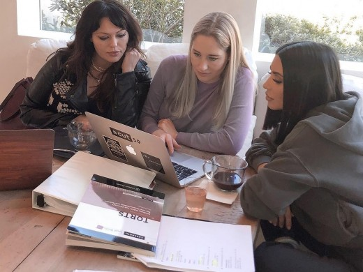 Kim Kardashian working with two attorneys as an apprentice