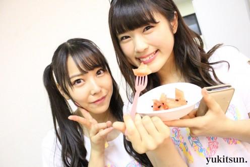 With Nagisa Shibuya (right).