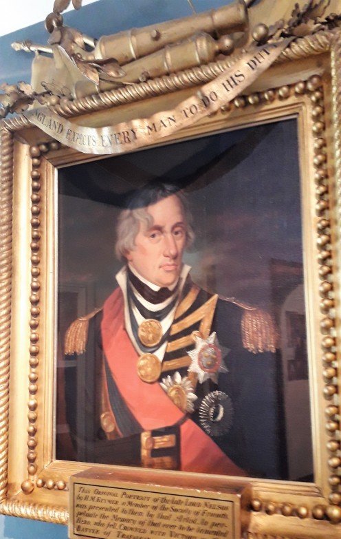 A portrait that Nelson sat for when he visited Great Yarmouth.