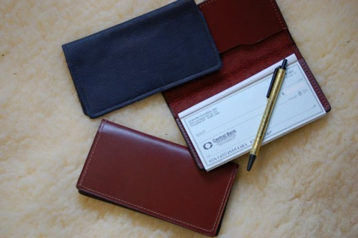 A leather checkbook cover is stylish and elegant.