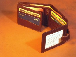 A quadruple fold men wallet can hold almost anything you want to carry around with you!
