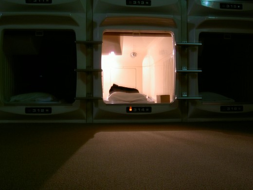 A view from the outside of one of the capsules.