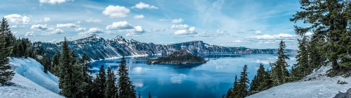 Crater Lake National Park, northeast of Medford.