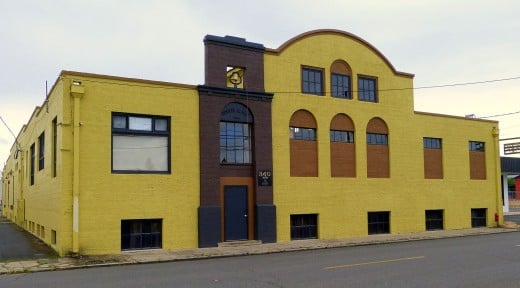 Historic Cooley-Neff Warehouse built in 1924 at  340 North Fir Street. It has been transformed into a winery.
