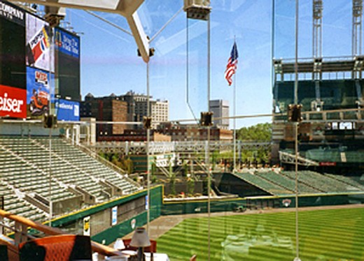 View onto Jacobs Field