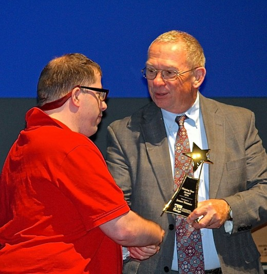 Receiving the Lifetime Achievement Award from ARC